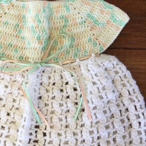Vintage Dresses - Vintage | Dress and Sweaters Bundle Crocheted